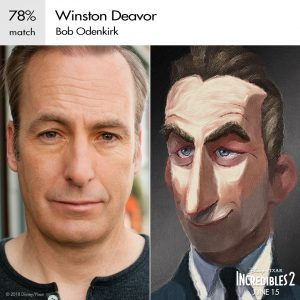 WINSTON DEAVOR (voice of Bob Odenkirk) Fuente: Disney and Pixar