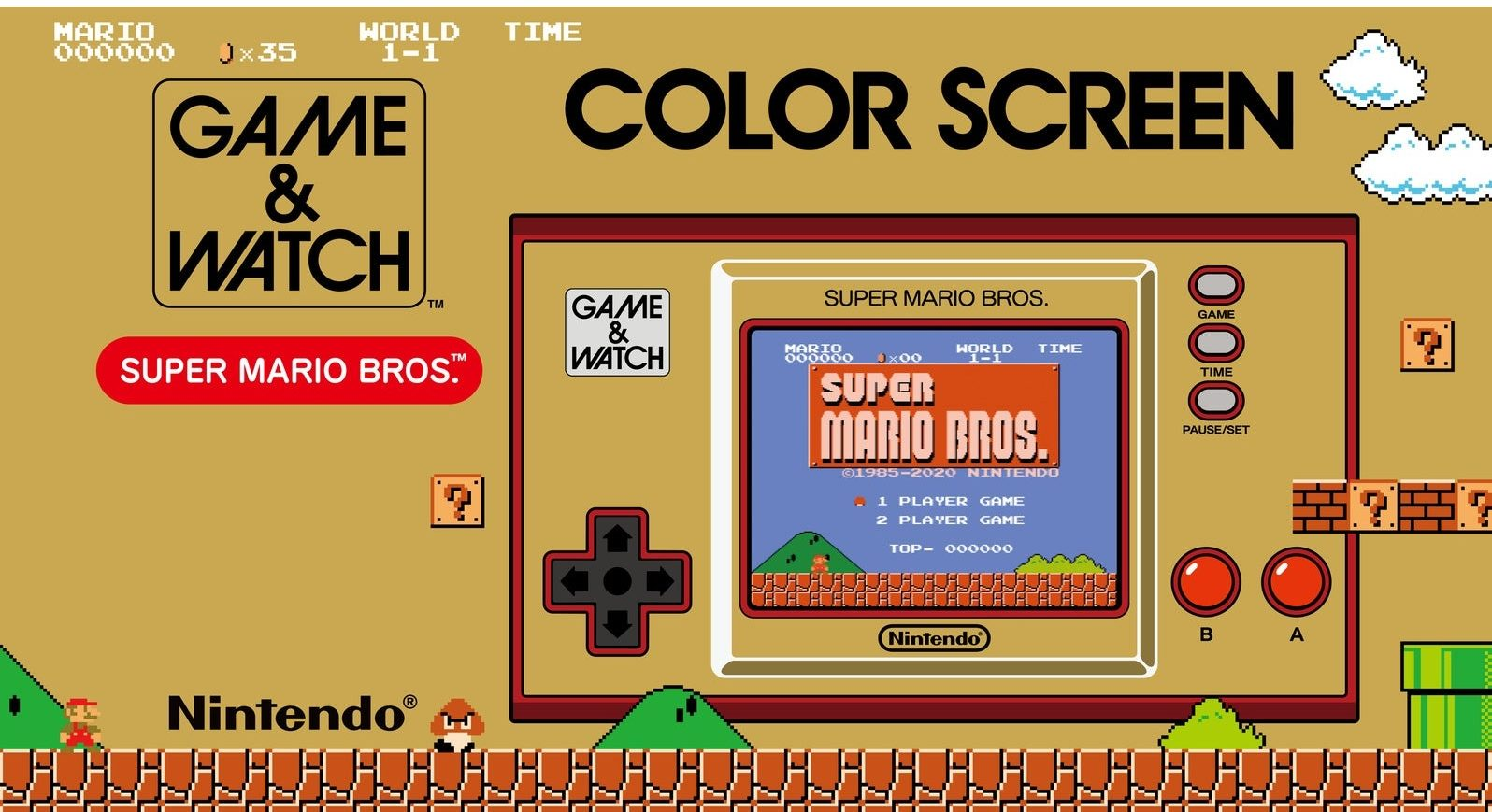 super mario game and watch